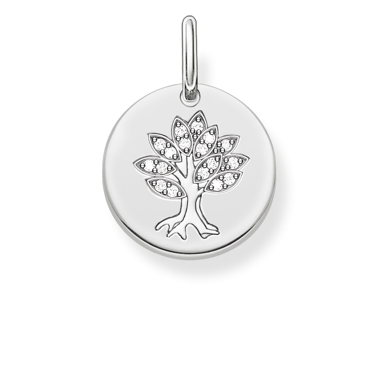Thomas Sabo Damen-Anhänger Love Bridge Lebensbaum 925 Sterling Silber weiß 1.4 cm LBPE0008-051-14 Thomas Sabo GmbH