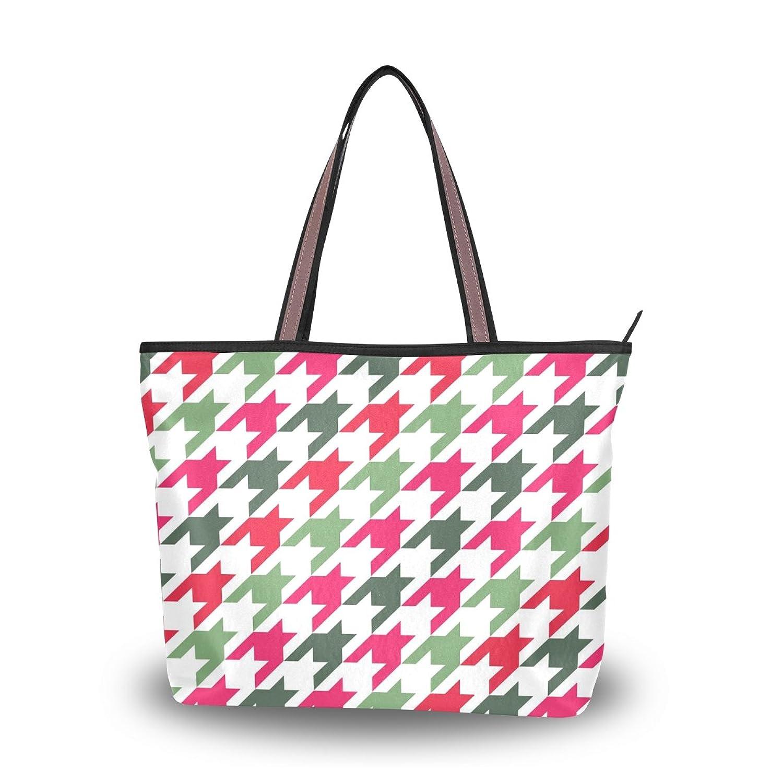 INGBAGS Fashion Large Tote Shoulder Bag America Pied De Poule Houndstooth Pattern Women Ladies Handbag