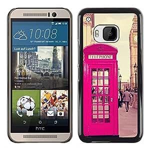 FlareStar Colour Printing Phone Booth Uk United Kingdom Big Ben cáscara Funda Case Caso de plástico para HTC One M9