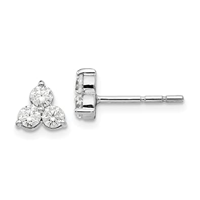 e8ca79b6e Image Unavailable. Image not available for. Color: 14k White Gold True  Origin Lab-Grown Diamond Stud Earrings ...