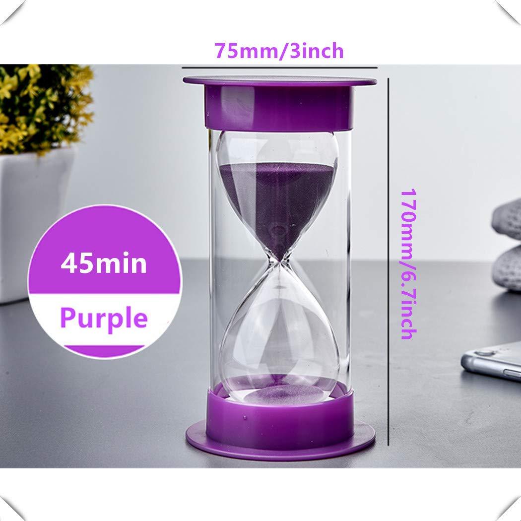 60 min 5 Minutes blau Zeiger Sand Timer Sanduhr mit Schutz f/ür K/üchen-Timer und die Zeit zu 5 Minuten 10 Min 30 min 45 min