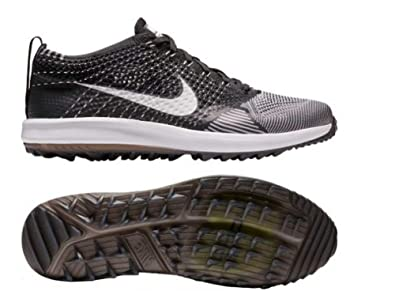 d0a8d3d2f84a5 Nike Women's Flyknit Racer G Golf Shoes Black/White Size 11