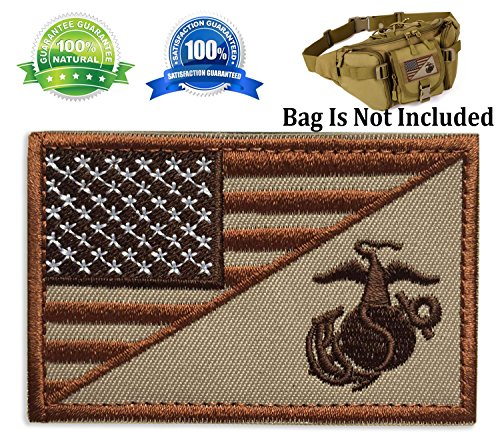 Patch USA American Flag w/Marine Corps USMC Military Tactical Morale Badge Patch Embroidered Patch 3