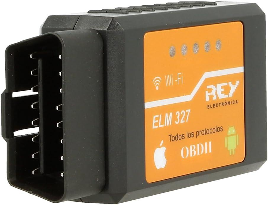ELM327 Interfaz V2.1 Wifi OBD-II OBD2, compatible IPHONE / IOS / ANDROID, Máquina de Diagnosis para el Coche, Electrónica Rey®