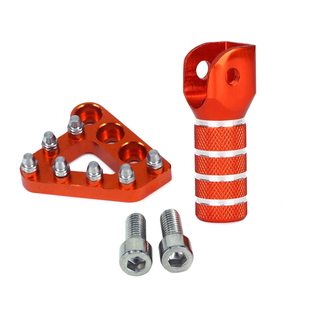 Hot Orange CNC Rear Brake Pedal Step Plate Tip Gear Shifter Shift Lever For KTM