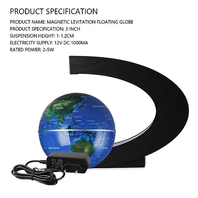 Magnetische Kugeln Globen LED Schwimmende Kugel World Karte C Form als B/üro Schreibtisch Dekoration Magnet Globus Weihnachtsgeschenk Geburtstag Geschenke