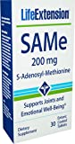 Life Extension SAMe (S-Adenosyl-Methionine) Promotes Brain And Liver Health 200 mg, 30 Enteric Coated Tablets