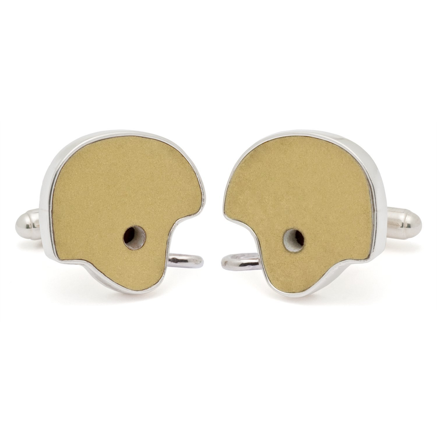 Tokens & Icons Collegiate Football Used Helmet Cufflinks - Notre Dame (16ND) by Tokens & Icons
