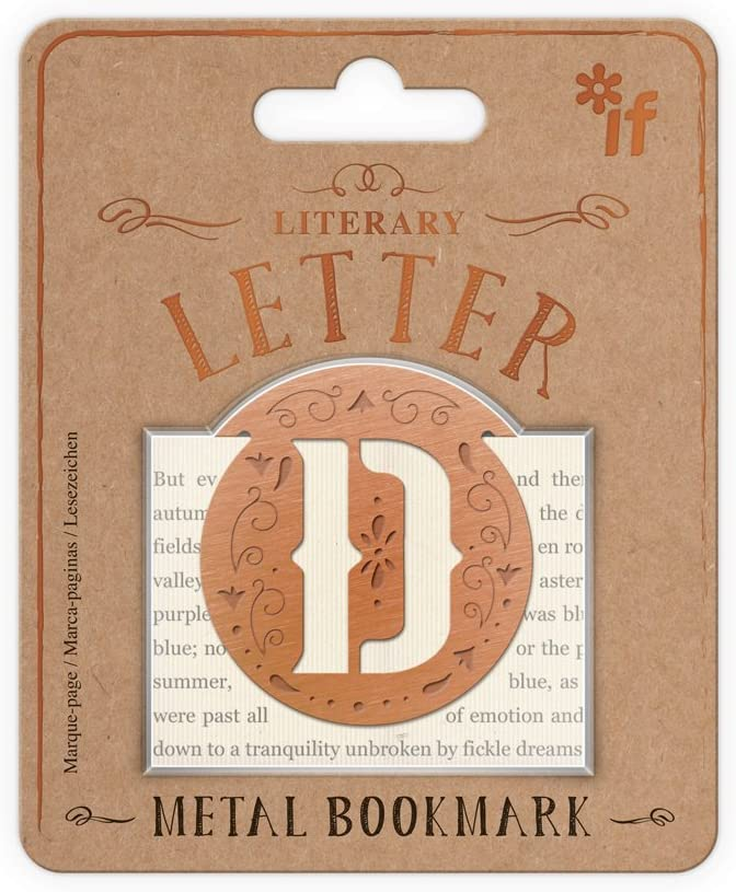 Letter C IF Literary Letters Metal Bookmark