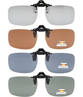 Amazon.com: Splaks Clip-on Sunglasses, Unisex Polarized ...