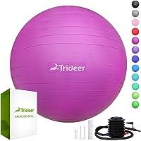 Trideer Dicker Anti-Burst Gymnastikball inkl Ballpumpe, Robuster 700kg Maximalbelastbarkeit Sitzball Pilates Ball Yoga Ball als Fitness Kleingeräte und Balance Stuhl im Gym-Home-Büro