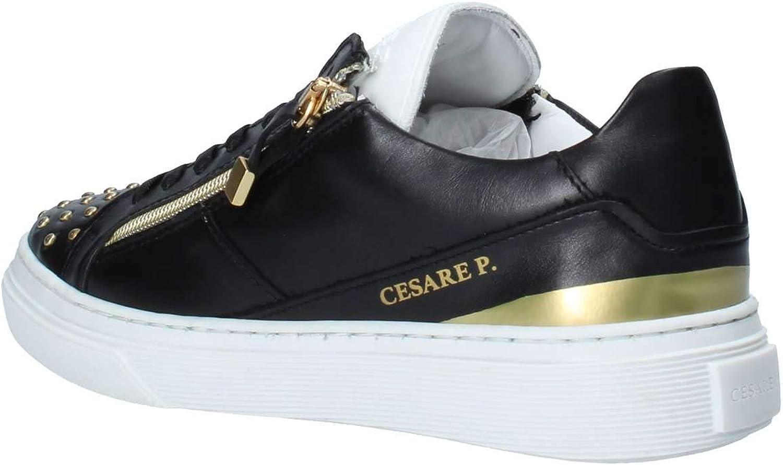 CESARE P... , Baskets pour Femme Blanc Blanc Noir