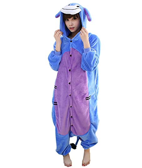Yimidear Unisex Adult Kigurumi Onesie Eeyore Pajamas Animal Cosplay Costume Sleepwear (S)  sc 1 st  Amazon.com : adult eeyore costumes  - Germanpascual.Com
