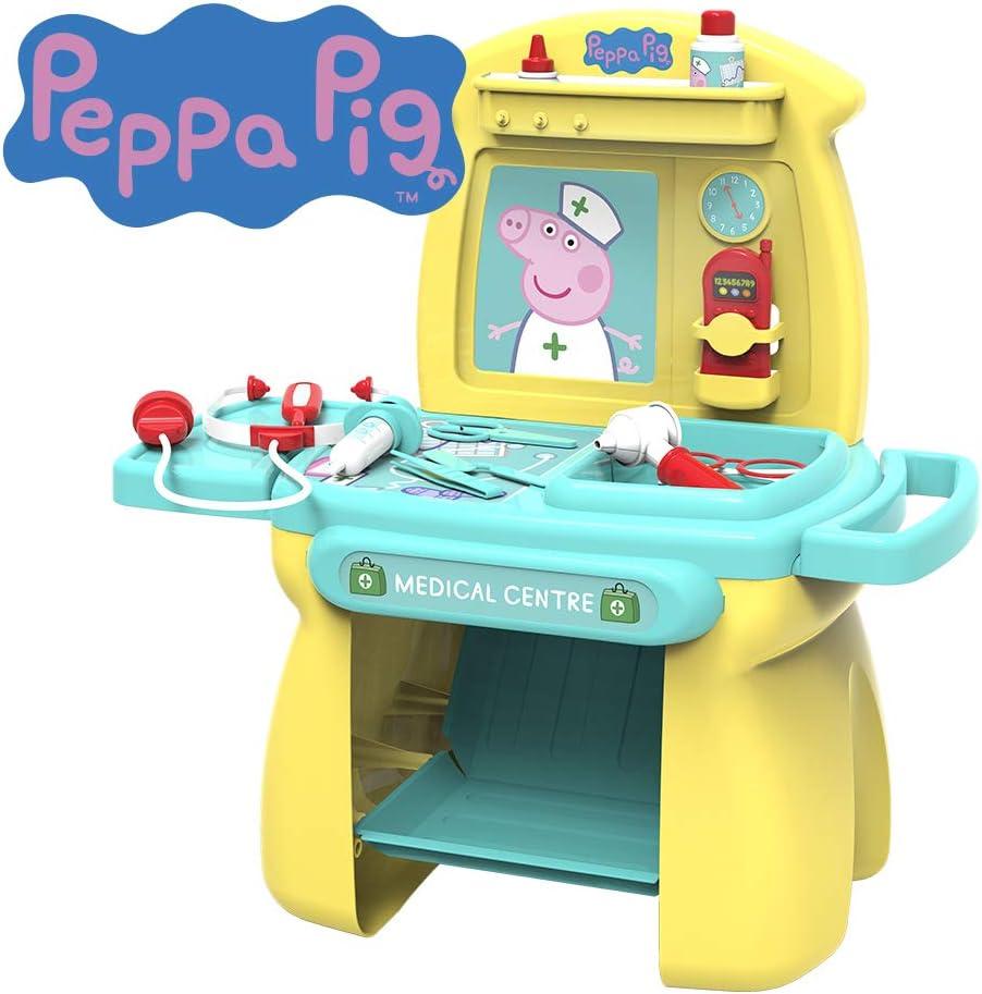 Chicos Peppa Pig. Centro Médico de Juguete. Juego de Imitación para Niños. Incluye 11 Accesorios. +3 años (Fábrica 84503)