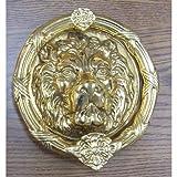 Brass Accents A07-K5100-609 Leo Lion Door Knocker, 8 3/8'', Antique Brass