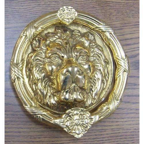 Brass Accents A07-K5100-620 Leo Lion Door Knocker 8 3/8'' Antique Nickel by BRASS Accents (Image #1)