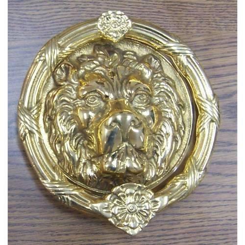 Brass Accents A07-K5100-620 Leo Lion Door Knocker 8 3/8