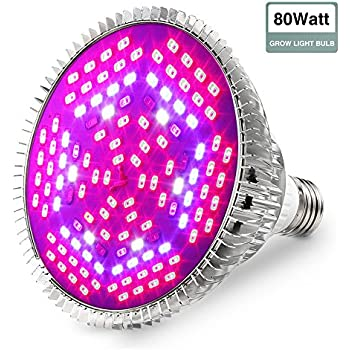 glime grow light led light bulbs 80w grow lights full spectrum plant light for greenhouse and