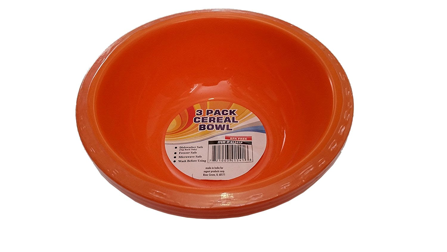3 pack 7 inch Plastic Cereal Bow