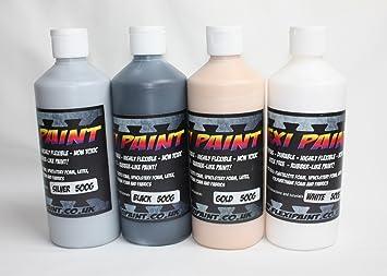 Flexi – Pintura Flexible pintura para disfraces y accesorios., negro, 500grams