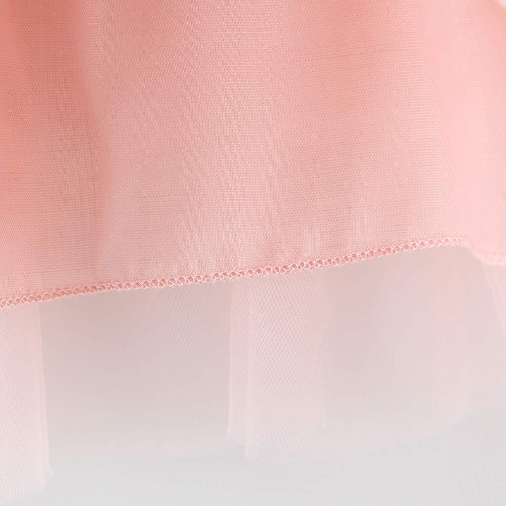 KIMODO Kleinkind Baby M/ädchen Kleid Spitze Drucken Kleid Gro/ße Gr/ö/ßen Urlaub Kurzarm Sommer Prinzessin Outfit Kleidung