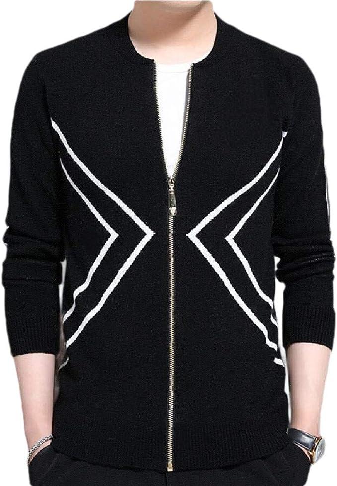 WSPLYSPJY Mens Single-Breasted Autumn Slim Fit Cotton Knit Sweater Cardigan