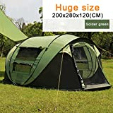 ECVILLA Outdoor Waterproof Automatic 4 Person Camping Family Tent (Green)