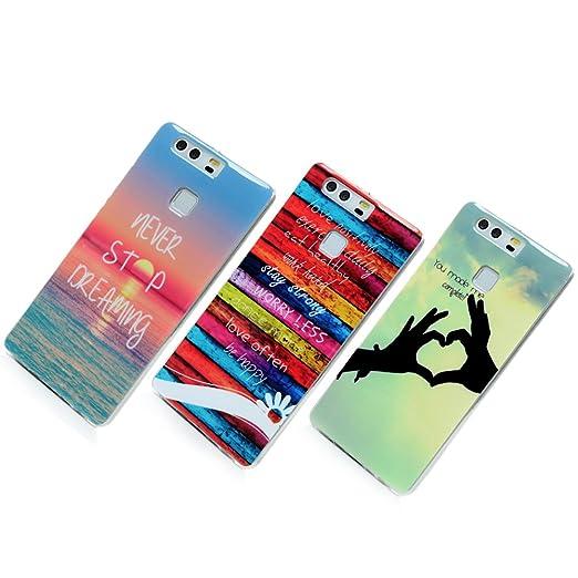 4 opinioni per Huawei P9 Cover, SUPWALL Custodia Silicone Morbida Trasparente TPU Flessibile