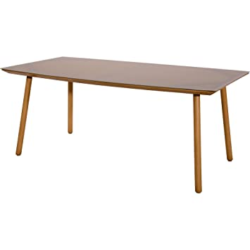 Table de jardin Table Café Table Lodge en aluminium imitation bois ...