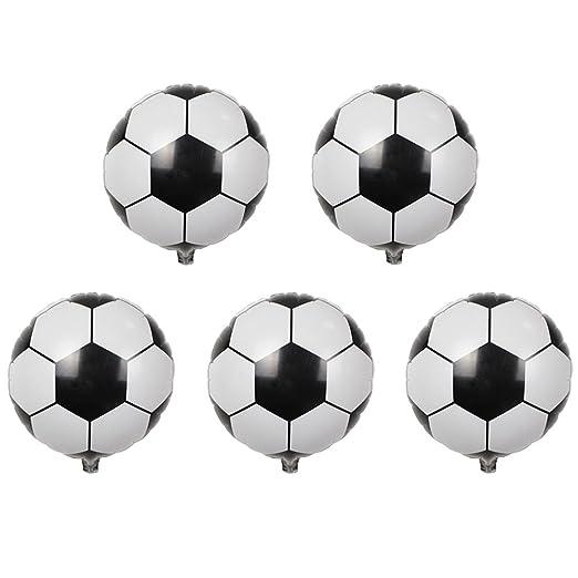 ZHOUBA - 5 Piezas Redondas de Papel de Aluminio para balón de ...