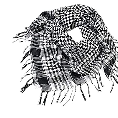 Rmeioel^ Scarf Wrap Arab Wrap with Tassel Scarf Military Shemagh Tactical Desert Keffiyeh Head Neck Scarf for Women Men : Garden & Outdoor
