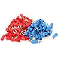 Sourcingmap–® 80pcs 16–14AWG Rojo Azul Cable conector aislado