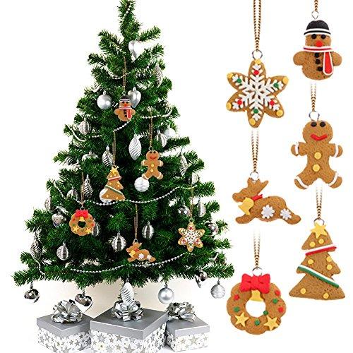 GSN 6pcs/lot Deer Snowman Pendant Chrismas Tree Christmas Gift Santa claus Christmas Decoration Supplies Arbol De Navidad