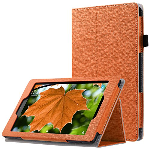 ULAK All Amazon Fire HD 8 Case, Ultra Lightweight Slim PU Leather Folding Stand Folio Protective Case Smart Cover Auto Wake/Sleep for Kindle Fire HD 8 Tablet(6th Gen, 2016 Release), - Covers Fire Kindle Durable