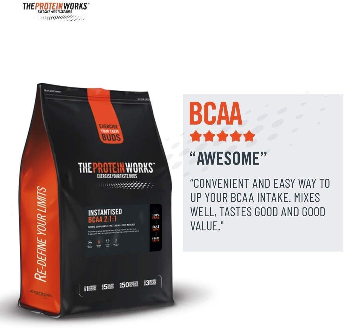 THE PROTEIN WORKS BCAA | Para Desarrollar y Recuperar Músculos | Explosión de Bayas | 250 g