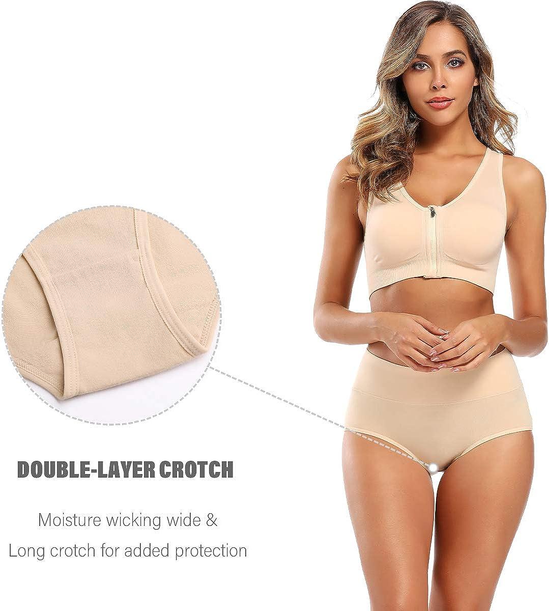 Molasus Womens High Waist Cotton Post Partum Briefs Underwear C Section Panties Soft Breathable Full Coverage Underpants
