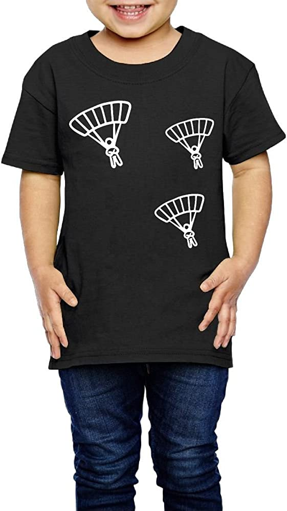 2-6 Years Old Kcloer24 Skydiving Children Organic T-Shirt Graphic Tee