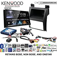 Volunteer Audio Kenwood DDX9704S Double Din Radio Install Kit with Apple Carplay Android Auto Fits 2007-2014 Cadillac Escalade