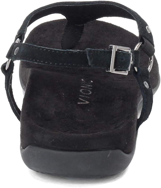 Vionic Women's, Rest Kirra Sandal Black Perf Suede