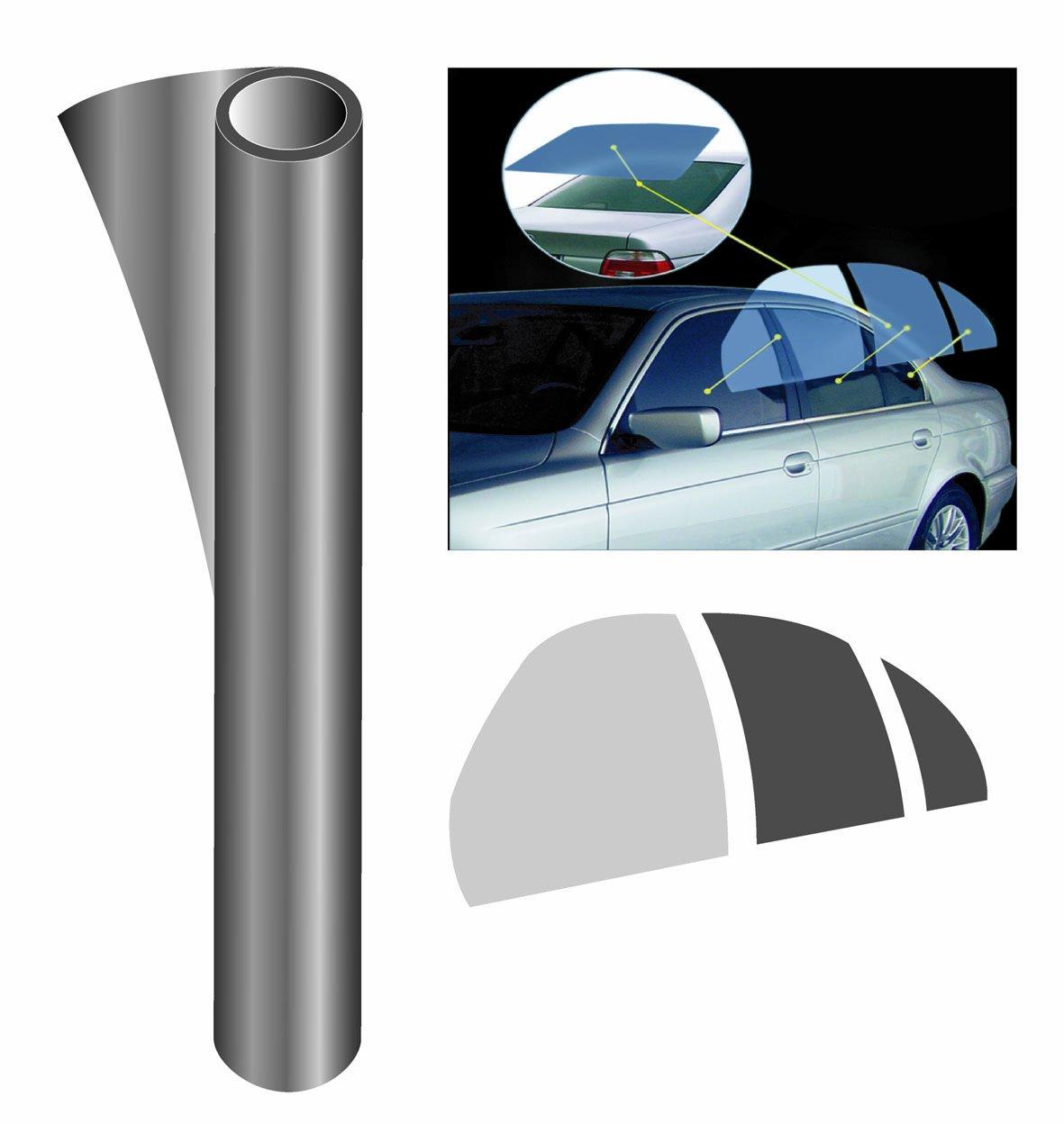 Trillogy PC-801DSR - Pellicola protettiva anti-UV sagomata per lunotto posteriore, colore: Grigio fumo scuro