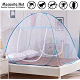 Mosquito Net, Double Entrance Pop-Up Mosquito Net Tent for Bed Fully Closed Design Anti Mosquito Bites for Babys Adults Camping Trip (180x200cm)