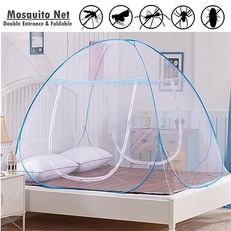 180 * 200 * 150cm El toldo neto de la cama del mosquito emerge para arriba las mordeduras anti del mosquito de la puerta doble plegable 2 a/ños de garant/ía