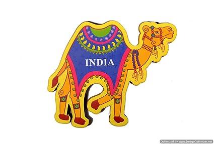 India Souvenir Wooden Fridge Magnet - Camel,Perfect Souvenir for Gifting