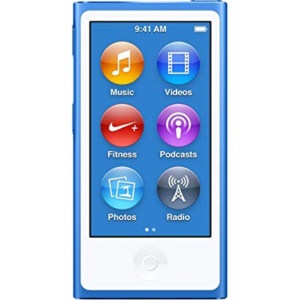amazon com apple ipod nano 16gb blue 7th generation latest model rh amazon com