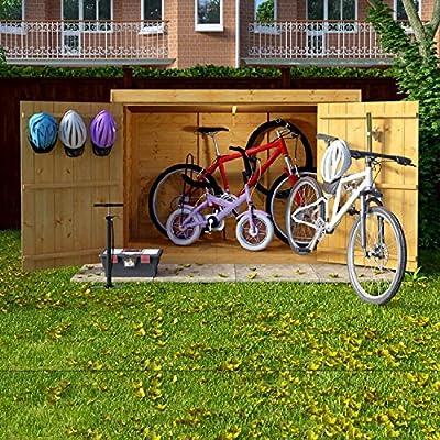 6x3-Overlap-Wooden-Pent-Bike-Log-Tool-Storage-Double-Door-Roof-Felt-Store-Shed-6ft-x-3ft