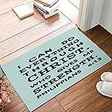 JXSED Easter Doormat, Christian Bible Verse Indoor/Outdoor Non-Slip Rubber Welcome Mats Floor Rug for Bathroom/Front Entryway 20X31
