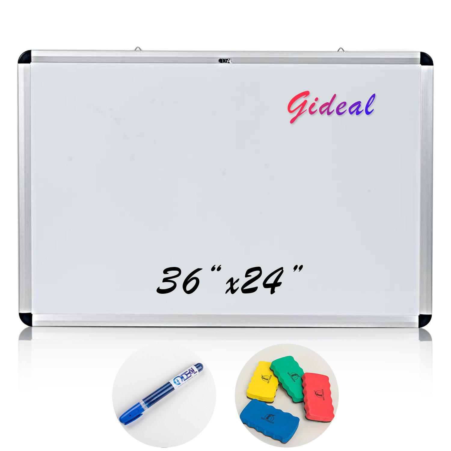 Gideal White Board 36 x 24 '' Dry Erase Board for Home School Office AC2
