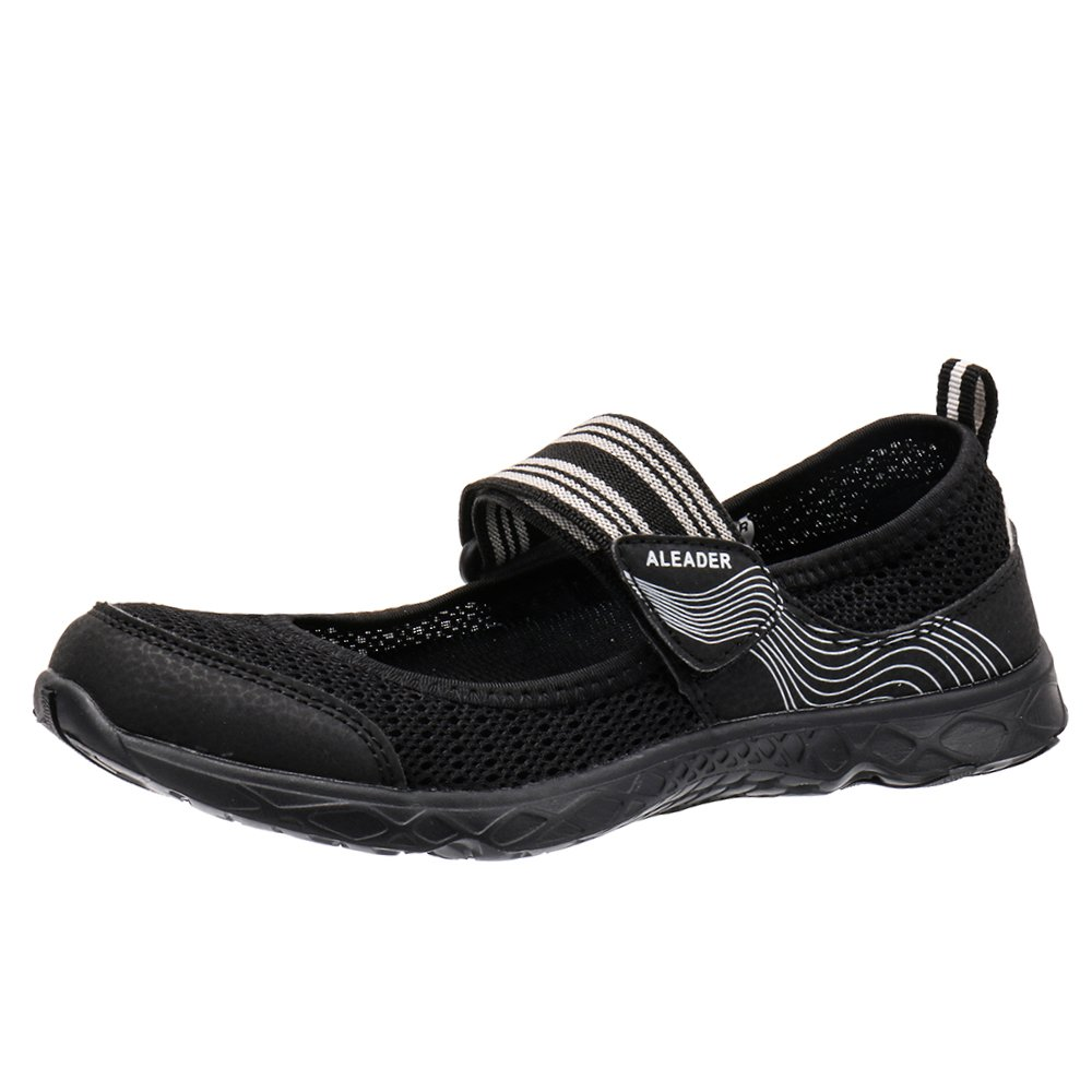 ALEADER Women's Mary Jane Water Shoes B078X9D9HR 8 B(M) US|Black/Gray