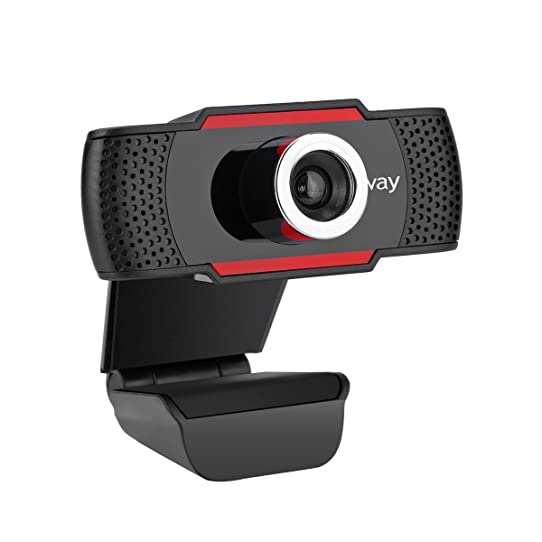 M.Way Webcam 720P Camera Full HD Web Cam Clip-on Rotatable Noise ...
