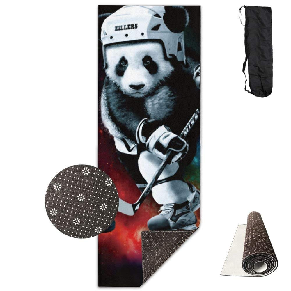 Galaxy Hockey Panda Deluxe,Yoga Mat Aerobic Exercise Pilates Anti-slip Gymnastics Mats